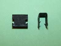 Edge clip 9.9mm height, for material thickness of 4.4-5.5mm, width 12.7mm. Triumph, Rover and general application.