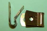 P'-Clip in zinc plated steel, 6.3mm x 6.0mm hole dia. General application.